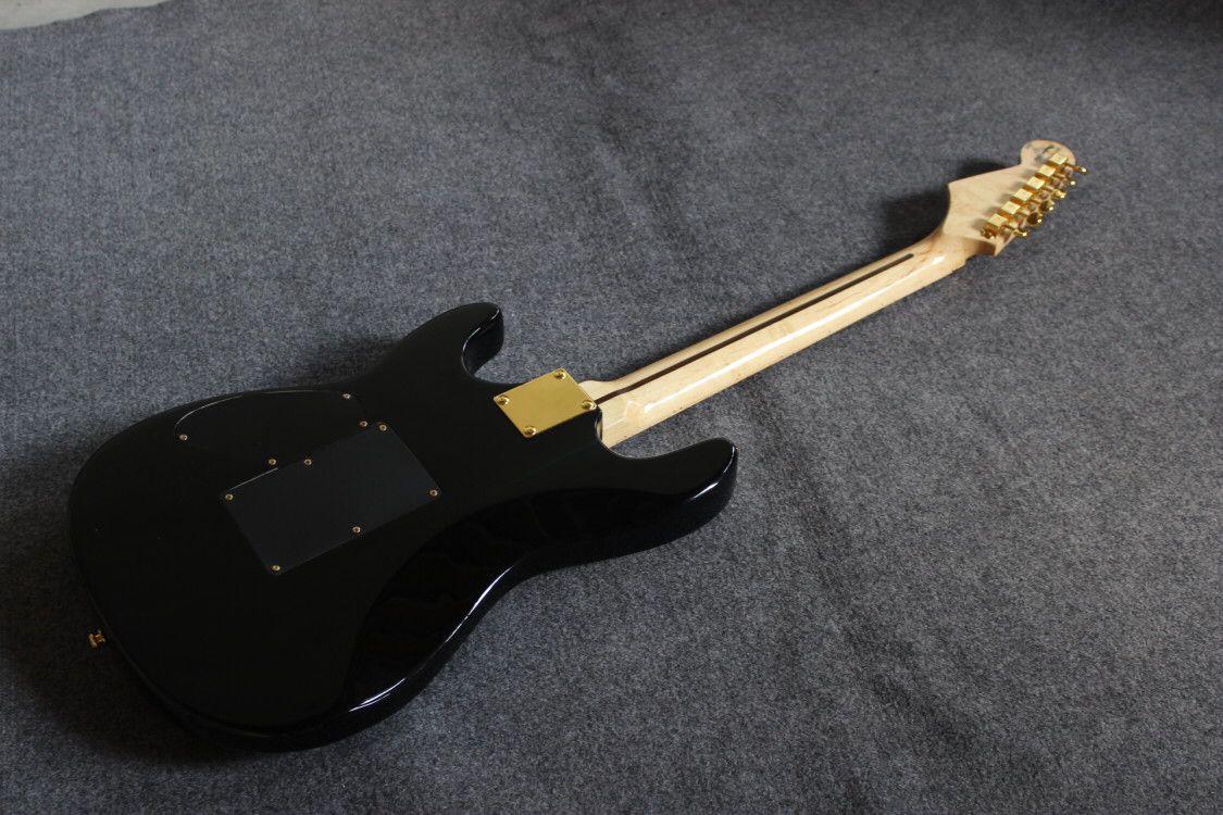 Custom shop,electric guitar.Black color gitaar,maple fingerboard.handmade 6 stings guitarra enlarge