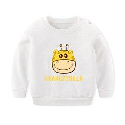 Roupas de bebê das crianças camisola primavera outono roupas versão coreana algodão puro bottoming camisa da criança menino estilo estrangeiro camisa