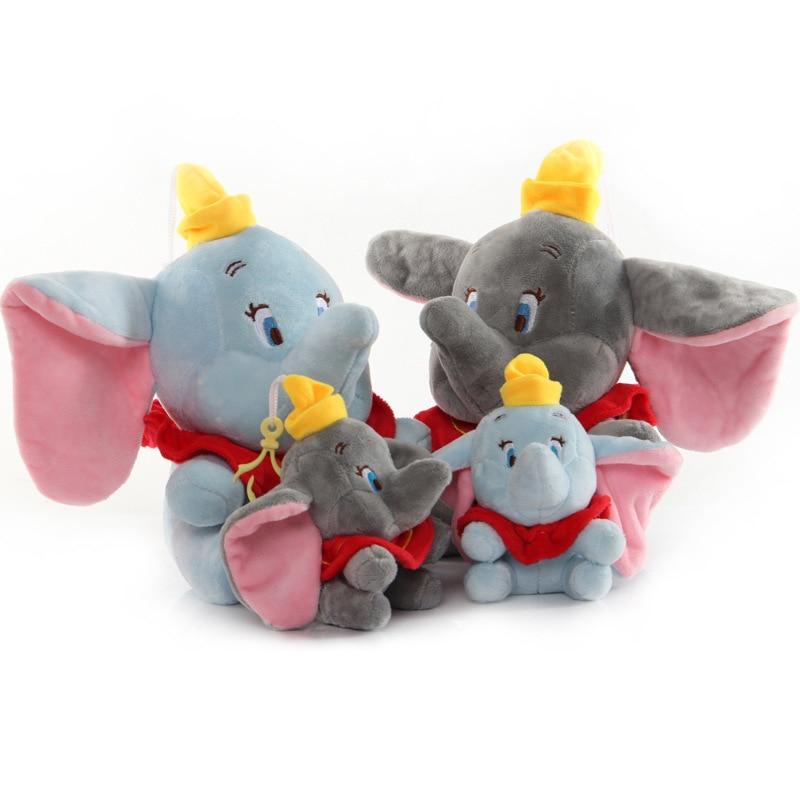 Nueva y encantadora muñeca de peluche de Disney Dumbo para Navidad, juguete de dibujo animado de animé elefante de peluche, juguetes blandos rellenos para bebés, regalos de cumpleaños