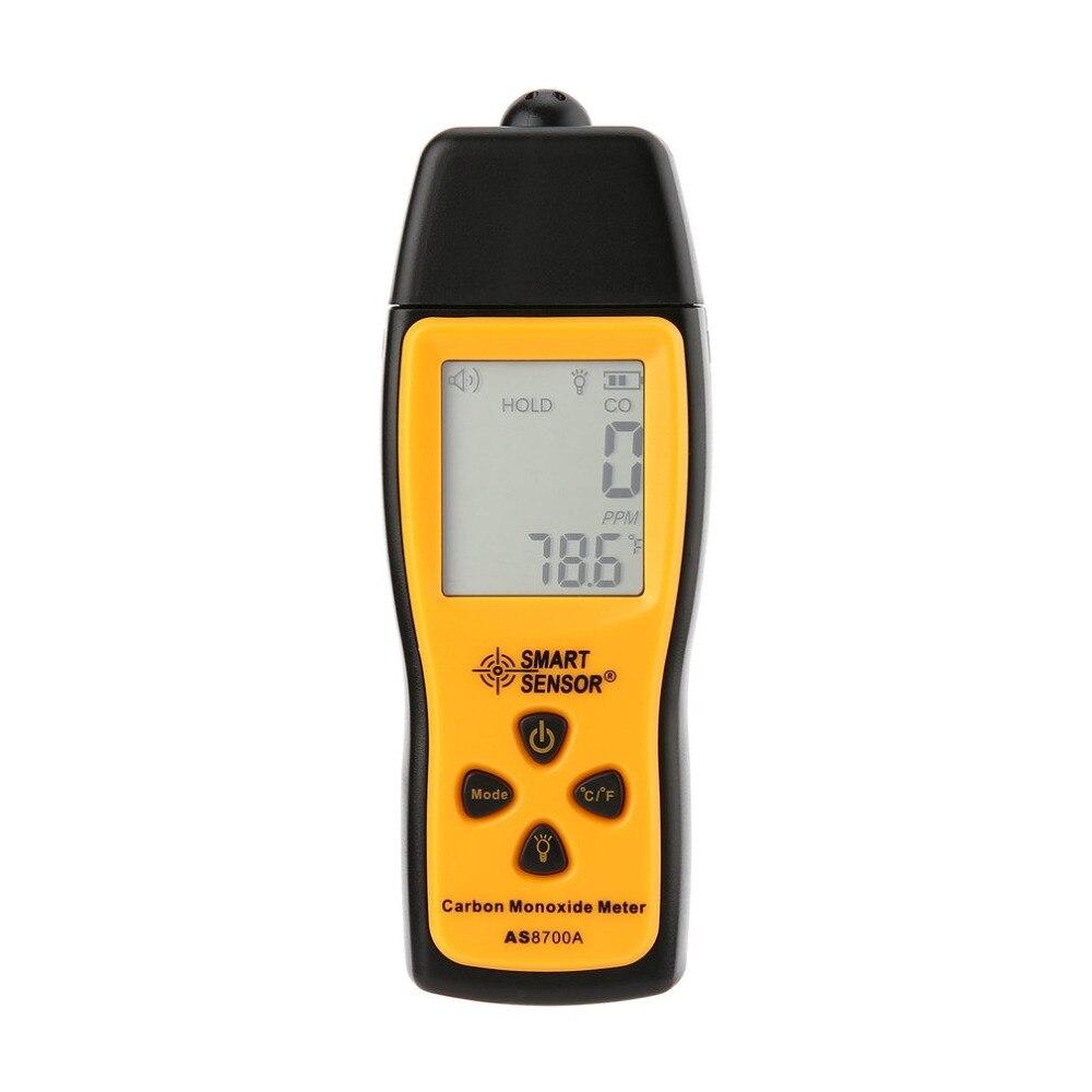 Medidor de monóxido de carbono portátil CO Detector de fugas de Gas analizador de Gas Detector de alta precisión medidor de Monitor de Gas 1000ppm