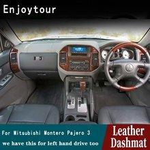Tapis de bord en cuir RHD   Pour Mitsubishi Montero 3 V77 V75 V73 2000 2001 2002 2003 2006