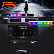 A+ Voice Control Stereo Music Levels Light for Car Player USB Energy-Saving Lamp Ambient Light
