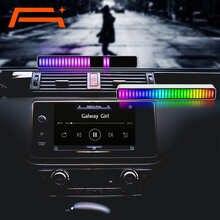 A + Голосовое управление, стерео музыкальные уровни освещения для автомобильного плеера, USB Энергосберегающая лампа, светильник