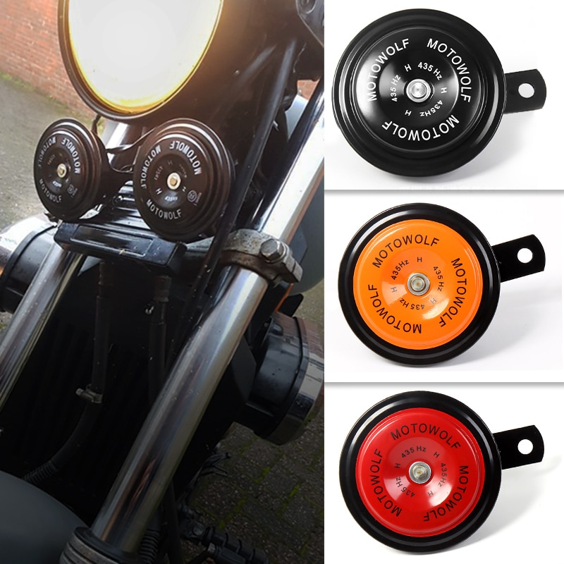 Chifre da motocicleta à prova dwaterproof água moto trompete 12 v elétrico redondo som alto para suzuki v strom 650 gsx s 750 gsx s1000f gsxr 1000 k8