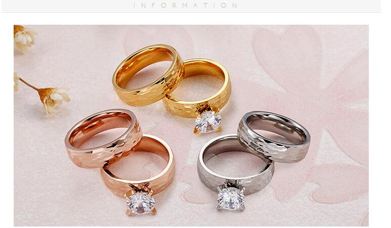 New Wedding Titanium Steel Rings Accessories Jewel Ring Fashion Jewelry Engagement Lover Valentine Lovers Couples Party Gifts