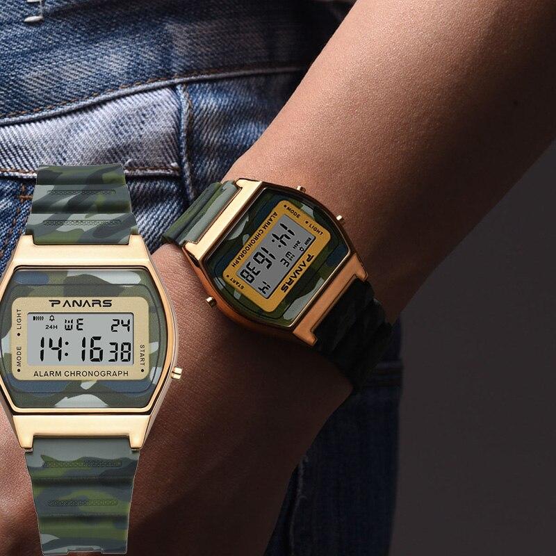 SYNOKE hombres Digital relojes deportes camuflaje LED impermeable hombre relojes cronógrafo semana indicador de fecha reloj Masculino