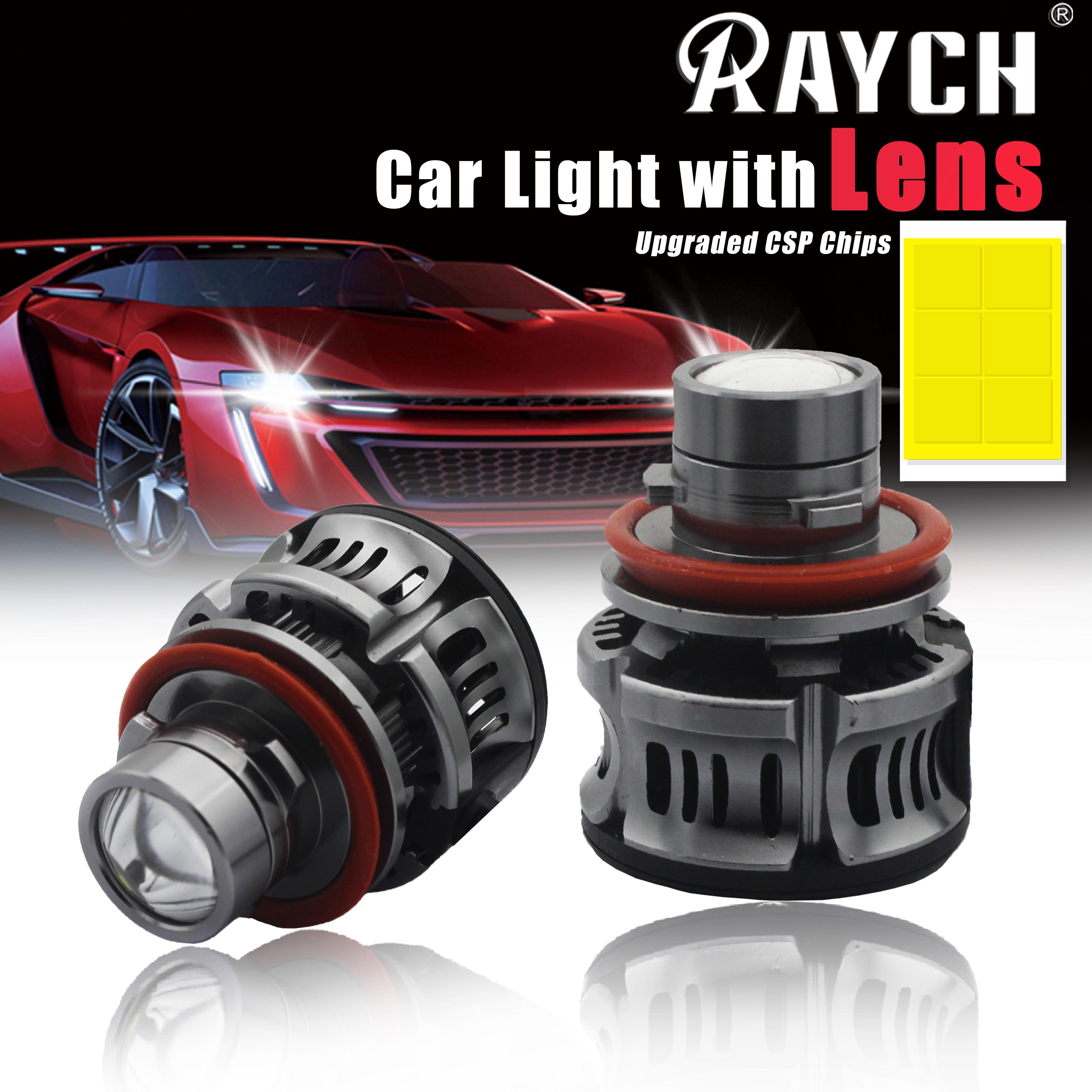 LED H7 السيارات الضباب كشاف ضوئي عدسة LED مصباح ل سيارة H11 H8 H9 9005 HB3 6000k 9006 HB4 45W 2400Lm زاوية عيون الضباب مصابيح كهربائية