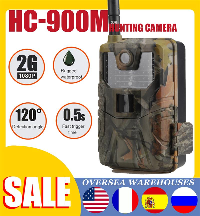 Hunting Cameras HC900M 20MP 1080P Wildlife Trail Camera Photo Traps Night Vision 2G SMS MMS SMTP Email Cellular Surveillance