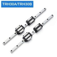 2pcs TRH30 Square Linear guide Rail 650 700 800 900 1000mm for CNC Router Milling Machine +4pcs TRH30B or TRH30A Square block