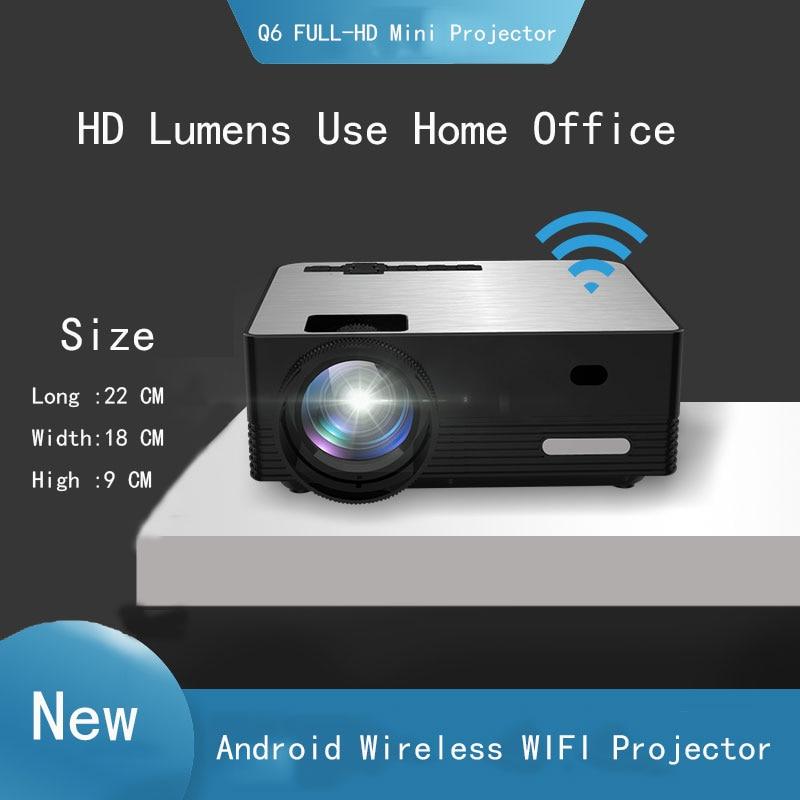 Thinyou Q6 Inteligente Android WIFI Sem Fio Bluetooth Portátil mini Projetor-Full HD 1280*720P Proyector Beamer Home teatro