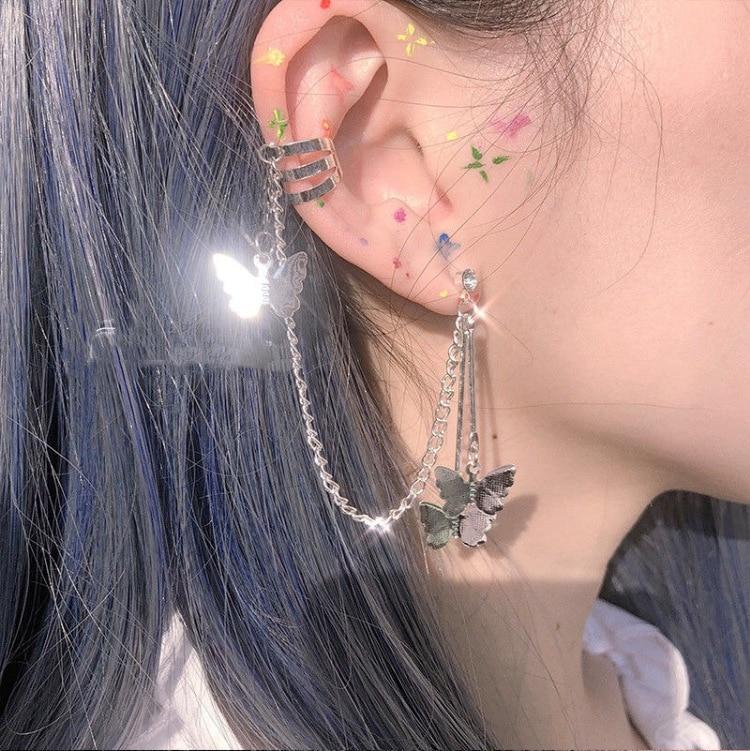 Nueva joyería creativa barroca mariposa Cool colgante Punk gota colgante Harajuku joyería para mujer chica suerte amistad regalos