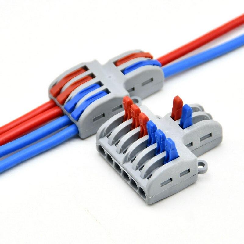 Cable conector eléctrico para coche de acampada, terminales eléctricos par, LED, universal,...