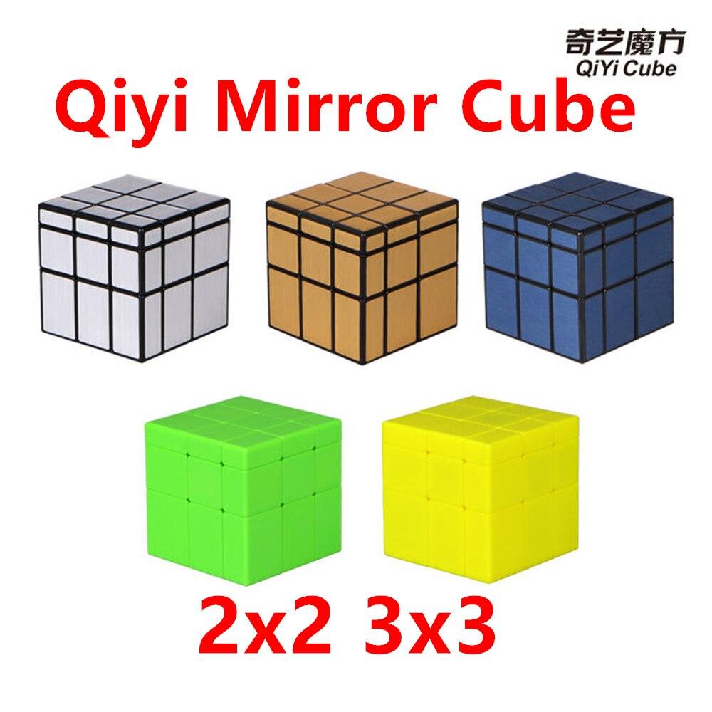 Qiyi espelho 2x2x2 cubo de quebra-cabeça mágico 3x3x3 o espelho cubo de cubo 3x3 velocidade qiyi espelho cubo 2x2 cubo de quebra-cabeça mágico
