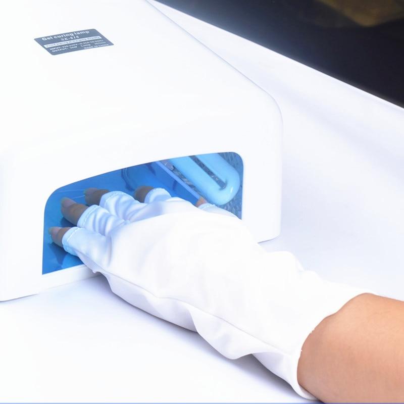 Hot 1 Pair UV Protection Glove Nail Art Gel Anti UV Glove UV LED Lamp Nail Dryer Light Radiation Pro