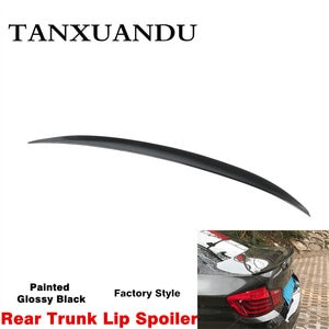 Painted Gloss Black ABS Rear Trunk Lip Spoiler Wing M / A Style Fit For 5 Series BMW F10 F18 2011-2016 Only Sedan 191024 Factory