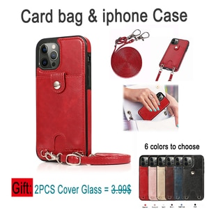 For iPhone 12 Pro Max High Grade luxury Card Slots Wallet Case For iPhone 7 Case X XR XS 8 Plus For iphone 11 phone case