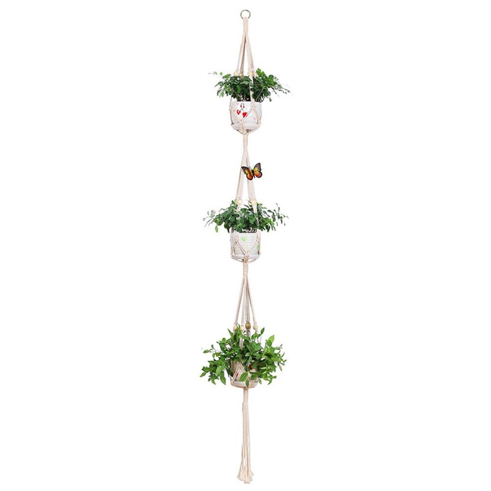 Faroot colgador de plantas, soporte de maceta de cuerda de algodón montado...