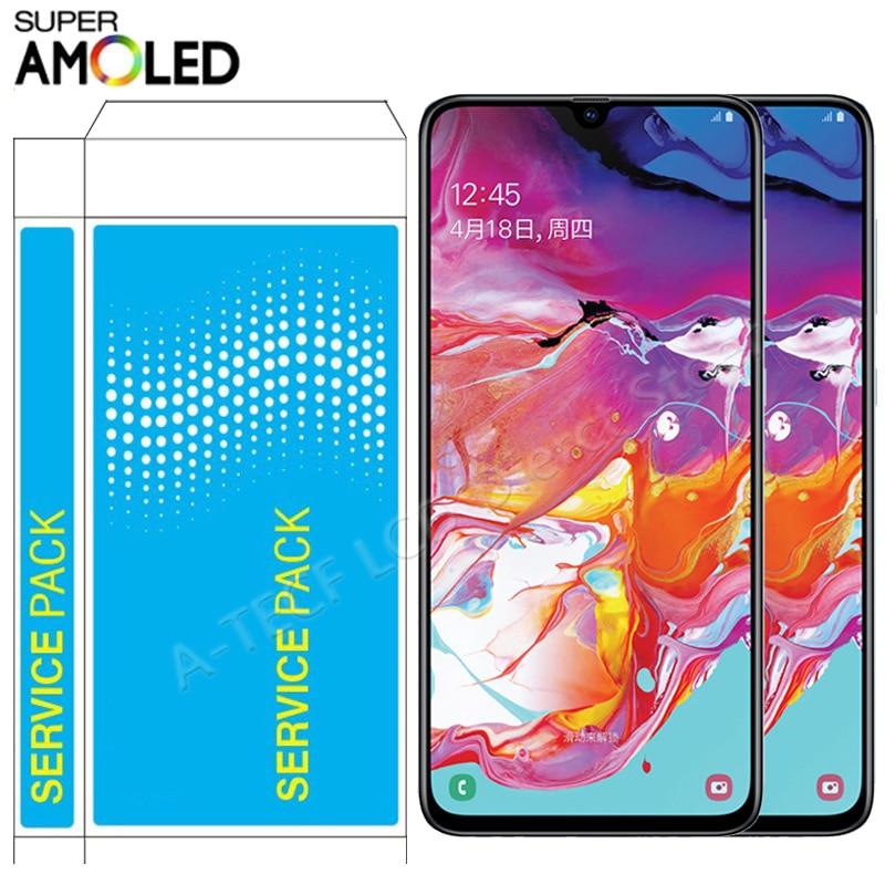Pantalla táctil Super AMOLED de 5,9 pulgadas para móvil, montaje de marco para Samsung A40, SM-A405, A405F
