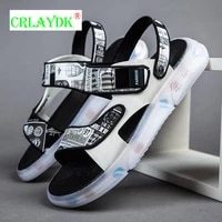 crlaydk men colorful sole sandals open toe soft strap graffiti pattern shoes casual summer beach slippers daily home flip flops