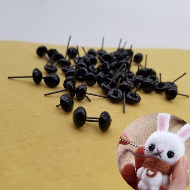 Material DIY Ojos de Animal fieltro de lana Ojos para muñecos ojos de aguja ojos montados en la cara de la muñeca oso de peluche utiliza accesorios lana de fieltro