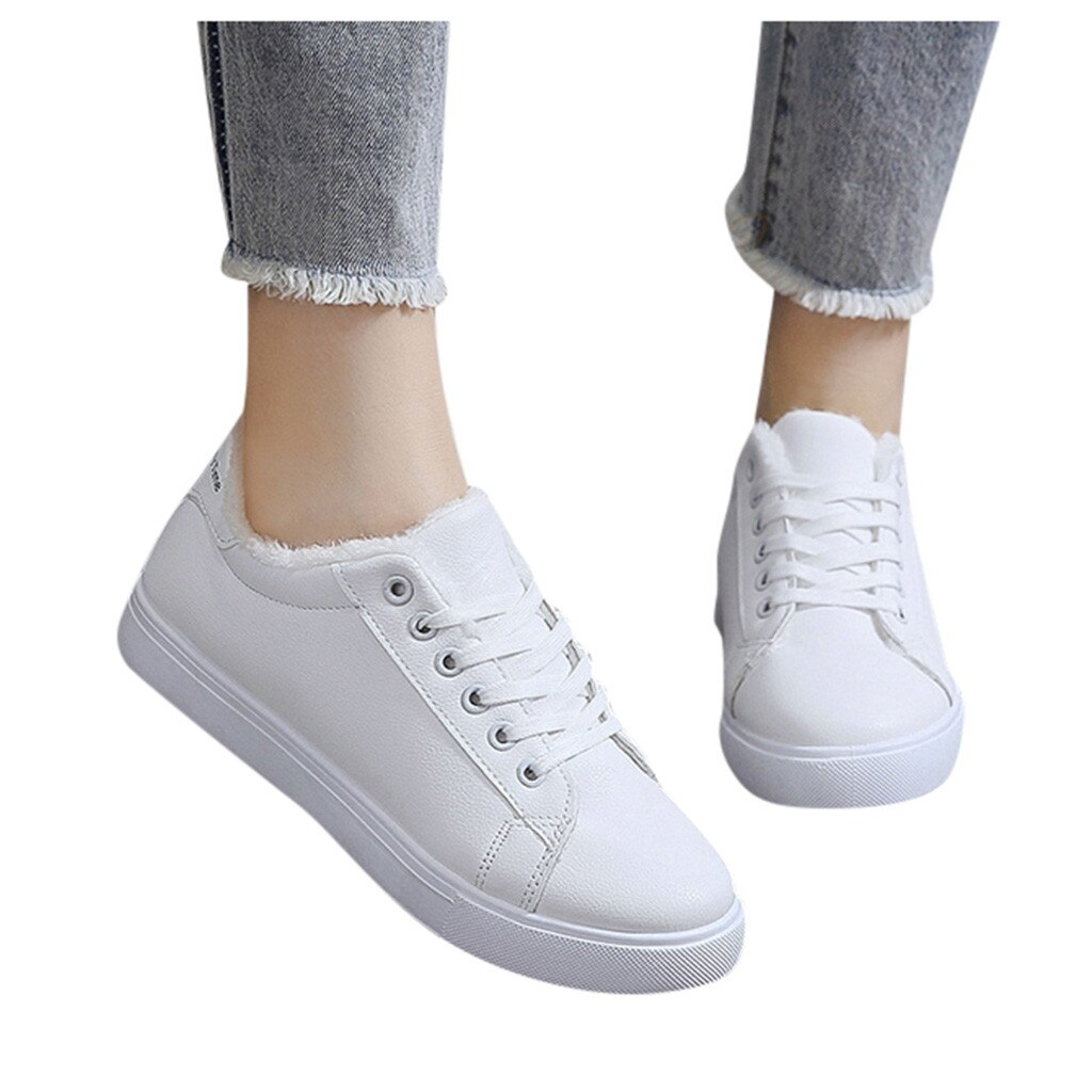 SAGACE Sports Shoes For Female Winter Plus Velvet Vulcanized Sneakers Shoes Ladies Casual Outdoor Sport Shoes Woman Sneakers
