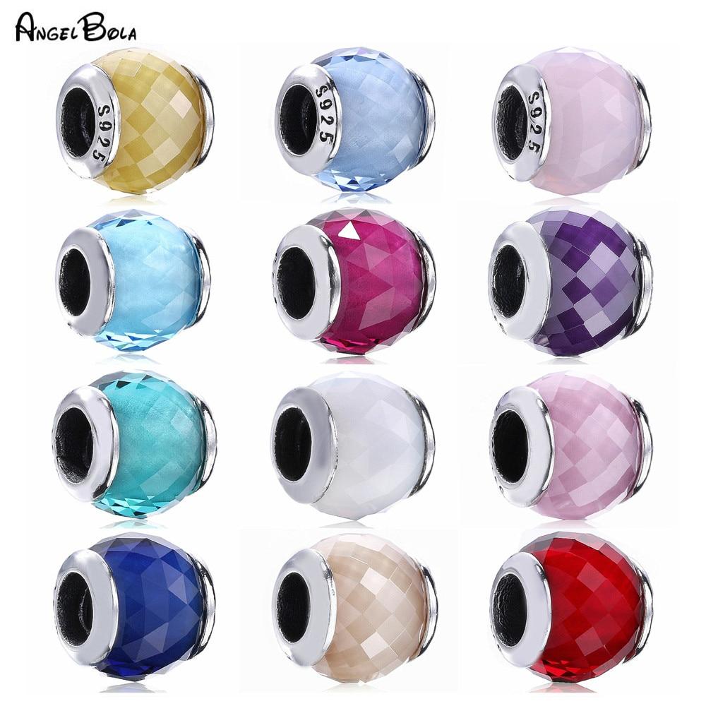 Gran oferta 2020, cuentas de cristal Murano de colores, Plata de Ley 925, brazaletes de pulsera originales para mujeres, abalorios, fabricación de joyas DIY
