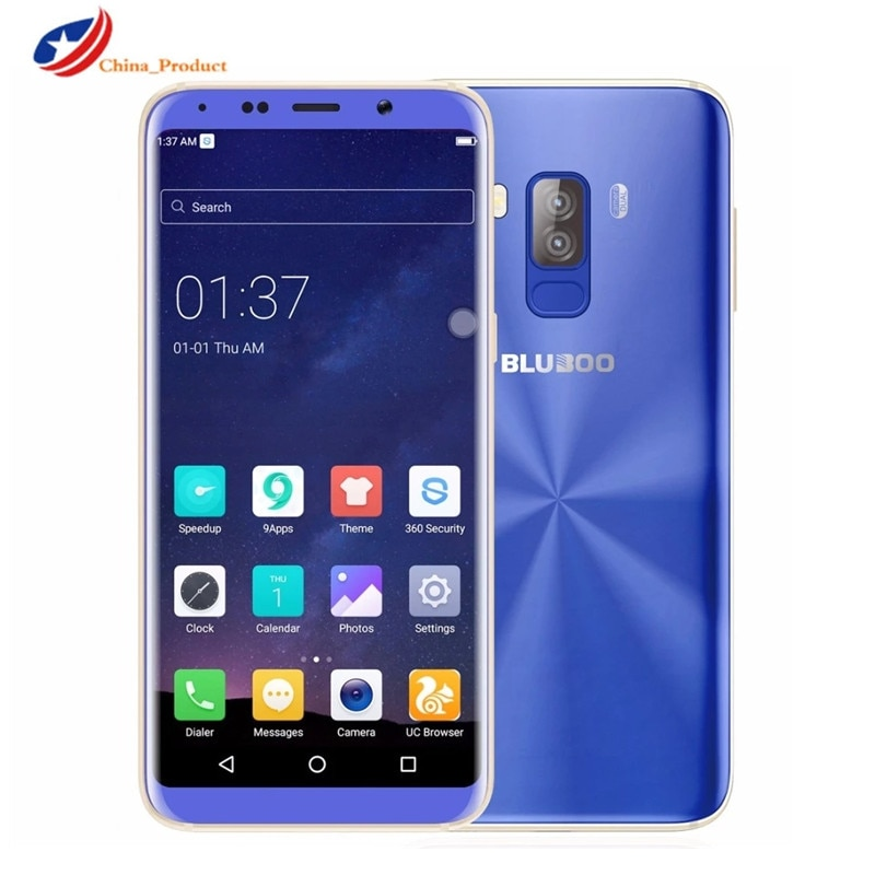 Fast Shipping Bluboo S8 5.7'' Display 4G LTE Smartphone 3GB 32GB 3450mAh MTK6750 Octa Core Android 7.0 13MP Mobile Phones