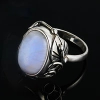 oval 11x17mm moonstone rings for men women 925 sterling silver jewelry ring party wedding anniversary gift vintage ring