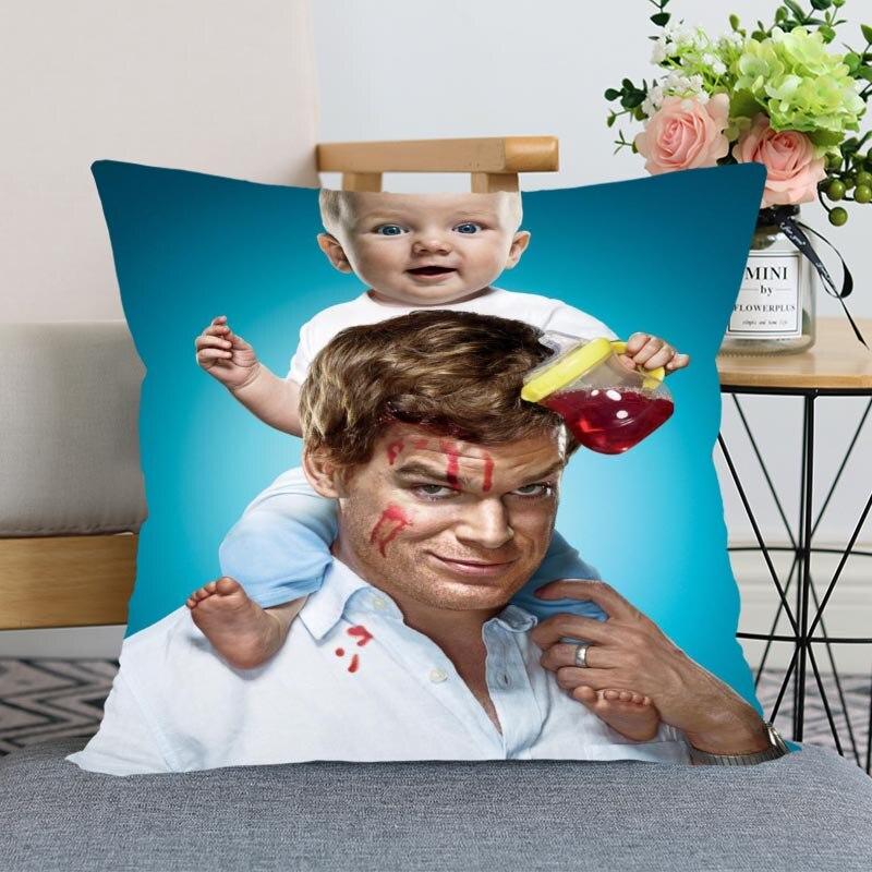 Chegada nova dexter tv fronha casamento decorativo fronha capa de travesseiro personalizado impresso macio cetim tecido fronhas não se desvanece
