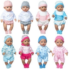 New lovely spring 2021 suit Wear For 43cm Baby Doll 17 Inch Born Babies Dolls Clothes And Accessorie