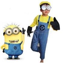 Enfants cosplay costume garçon filles cadeau méprisable moi enfants Costume Minions tissu Mini Corps Performance vêtements mignon avec des lunettes