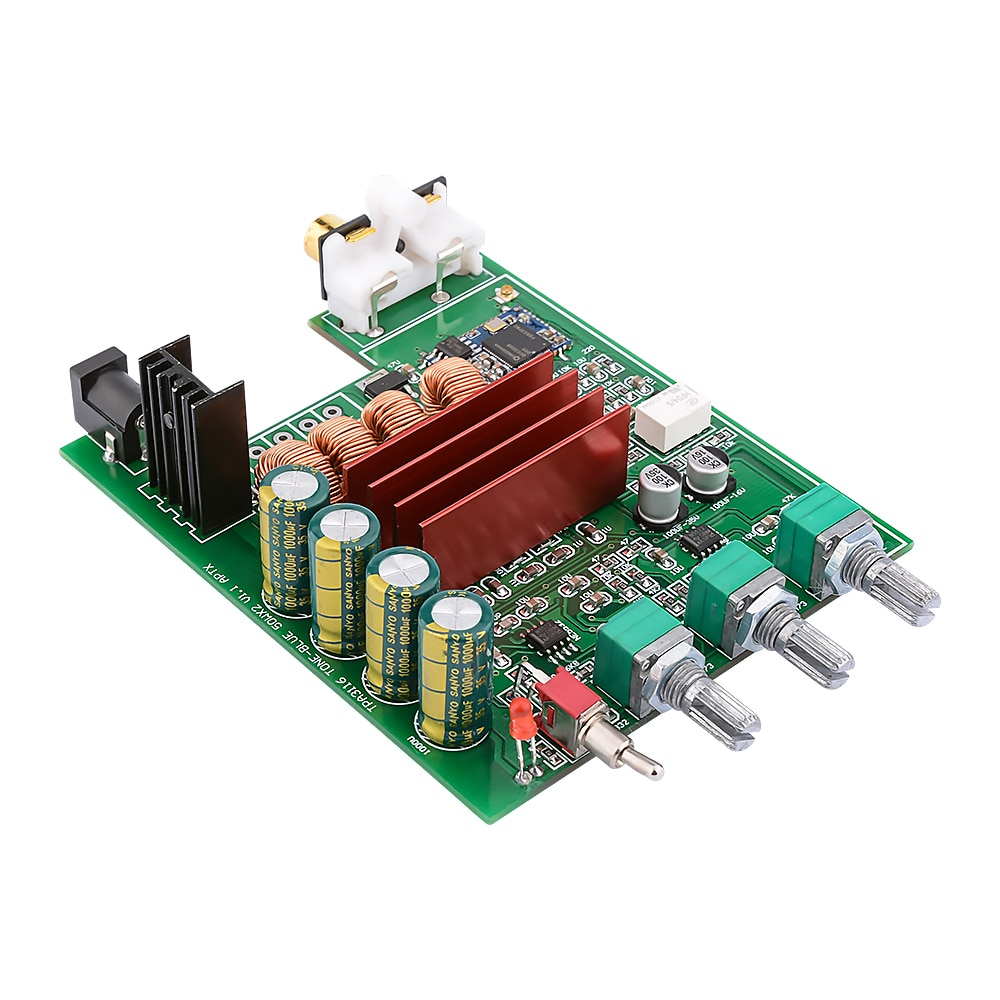 AIYIMA TPA3116D2 amplifikatör ses kurulu 50Wx2 Bluetooth 5.0 Stereo ses Amplificador dijital güç amplifikatörleri AUX NE5532 OP AMP
