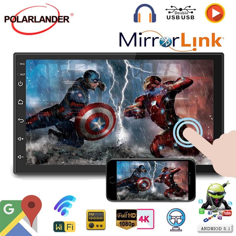 "7 ""MP5 Player Mutimedia Universal WIFI-Link Mirrorlink Carplay + Iphone + Android Auto-radio App-herunterladen GPS Nevigation 2din"