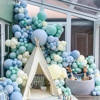 236pcs ins birthday decoration double blue double maka blue premium banquet commercial banquet balloon arrange