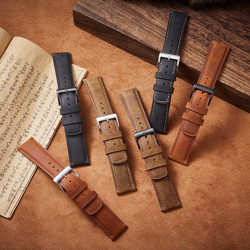 Venda de reloj de cuero 22mm 20mm de liberación rápida para Samsung...
