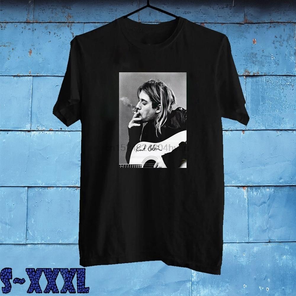 Camiseta de moda de verano para hombre de Cobain Donald, Camiseta ajustada de manga corta con cuello redondo, S-3Xl informales para camisetas negras, camiseta para mujer