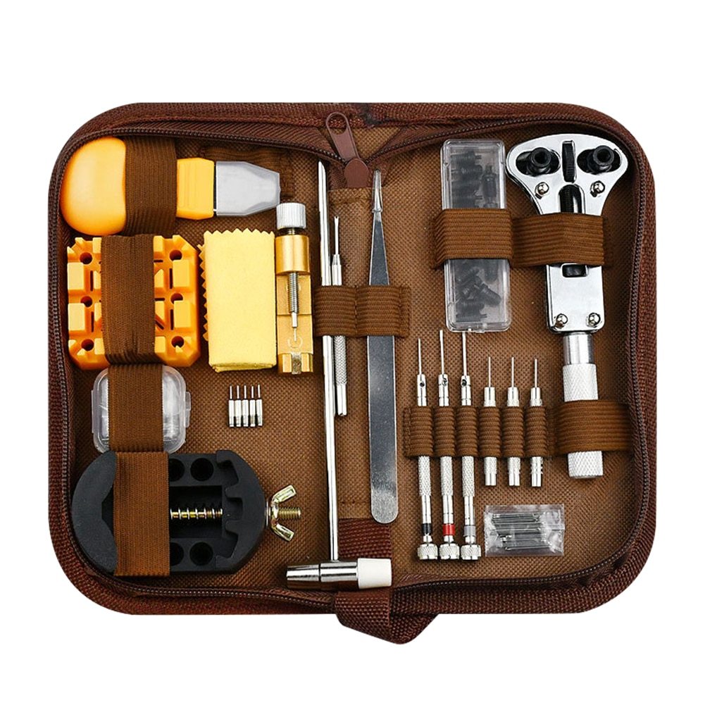 168pcs Watch Repair Kit Tool Link Pin Remover Watch Opener Remover Case Spring Bar Pry Screwdriver Clock Set Watchmaker Tools watch bezel inserts watch tools watch back watchmaker press repair tools kit watches case crystal glass press tools set