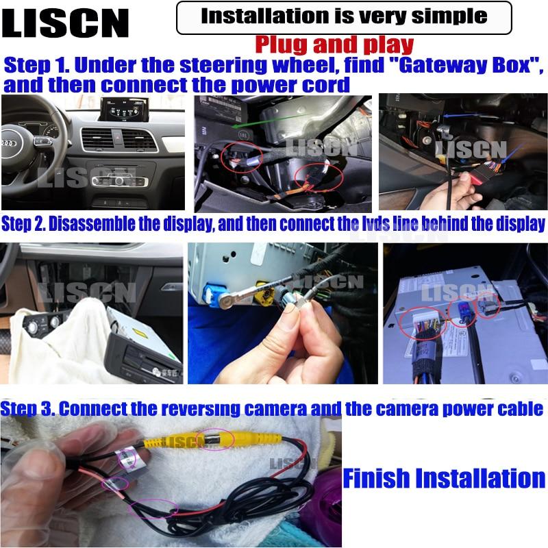 car rear camera For Audi A1 8X 2010 ~ 2019 backup Camera Interface Original Screen upgrade Decoder Reversing camera DVR