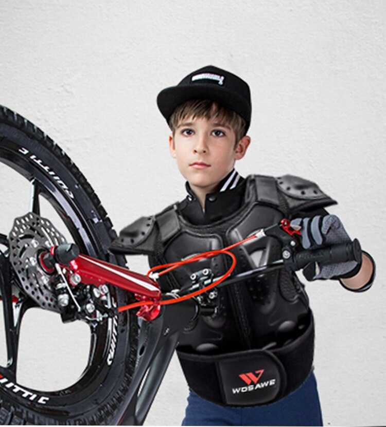 Children's Armor Set Spine Chest Protection Equipment Skateboard biker Jacket Sport Gear Bicycle Kids Sport Armor Proective Gear enlarge