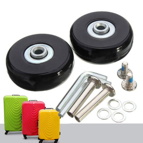 Hot sale 2 Pcs Black 2 Set Luggage Suitcase Replacement Wheels Suitcase Repair OD 50mm Axles Deluxe