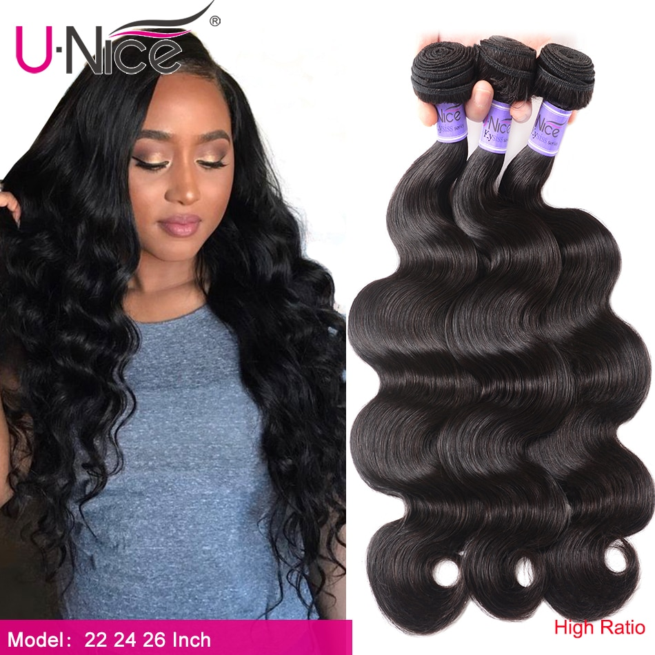 Unice Haar Kysiss haar 8A Körper Welle Brasilianische Haarwebart Bundles 100% Menschliches Haar 1/3 /4 Stück 8-30 zoll Reines Haar