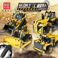 mould king moc rc truck remote control engineering car building blocks brick rc excavator assembly educational toys for kids