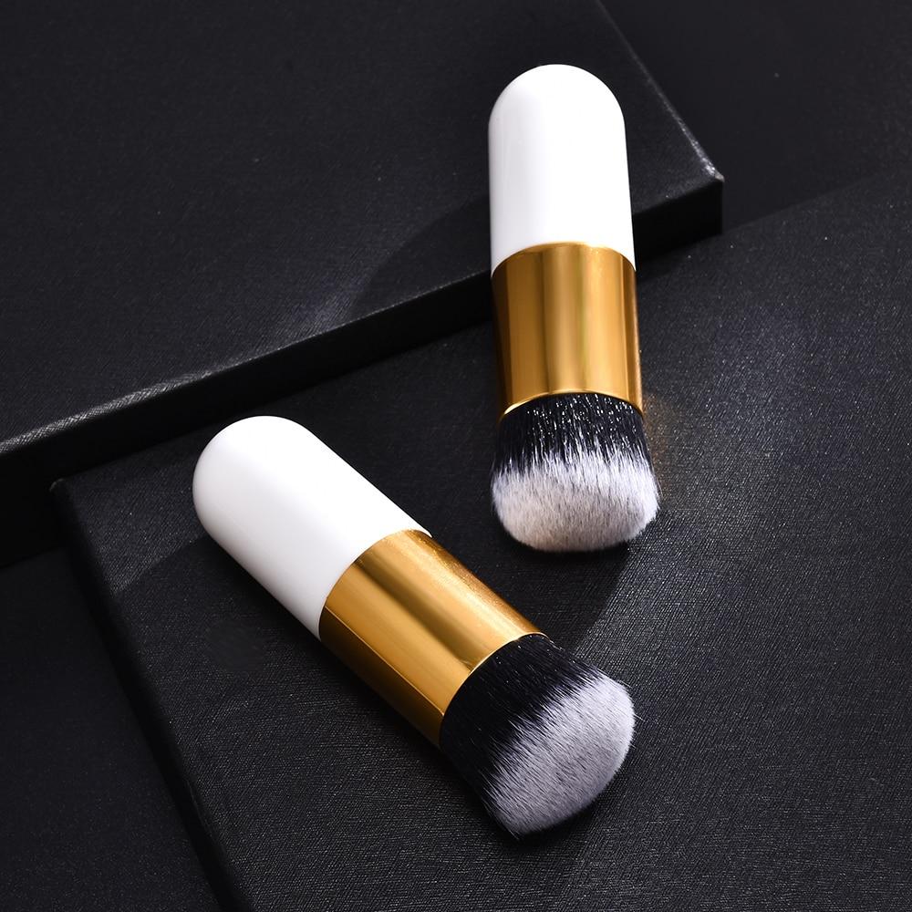 1 ud. Brocha de maquillaje Chubby Pier Foundation profesional, brocha de maquillaje de crema plana, brocha de maquillaje cosmética profesional
