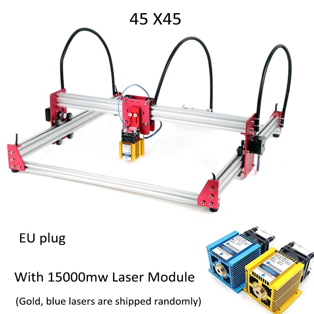 Mini CNC Laser gravure Machine DC 12V bricolage graveur 500 mw/2500 mw/5500 mw/15 W bureau bois routeur/Cutter/imprimante + Laser