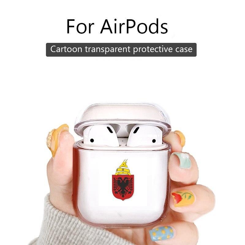 Funda para Airpods pro, funda para auriculares Bluetooth, funda para Air Pods 2 1, bonita funda protectora, Escudo de Albania de armas