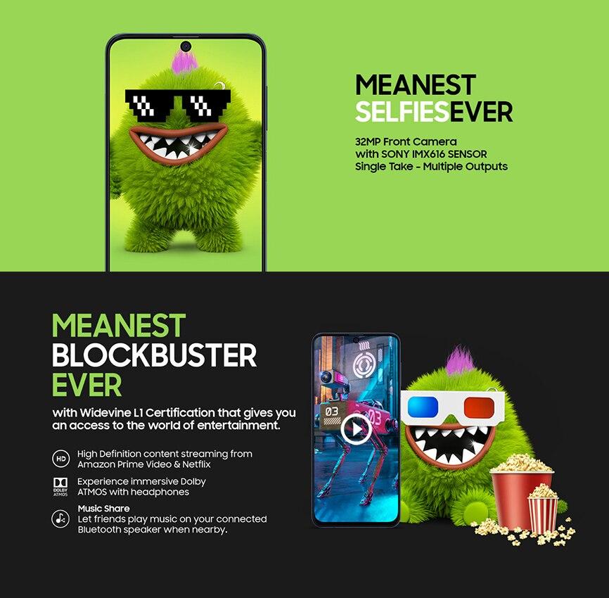Фото1 - Смартфон Samsung Galaxy M51 M515F, 128 ГБ ОЗУ 8 Гб ПЗУ, 6,7 дюйма, 7000 мАч, NFC, Snapdragon 730G