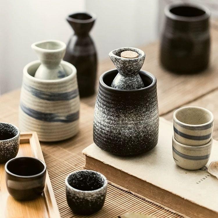 Японский керамический набор сакэ для вина, подогреватель вина, горячий горшок, бытовая бутылка для риса и вина, диспенсер для белого вина, На...