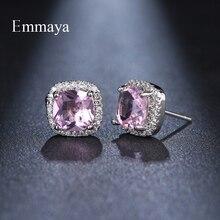 Emmaya apparence classique mode forme carrée boucle doreille avec Zircon cubique choix multicolore bijoux délicats femme en fête