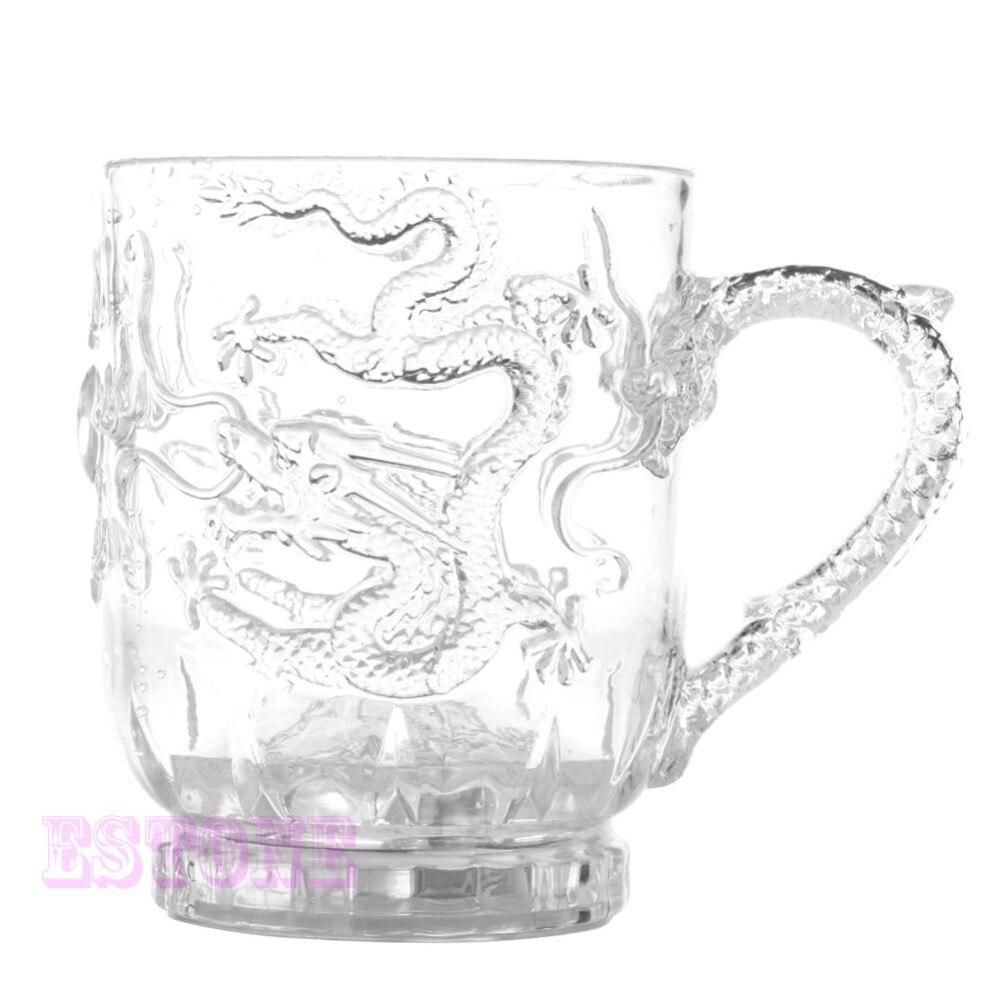 Светодиодная Индуктивная кружка с драконом, Радужный цвет, светящиеся кружки, стаканы для пива