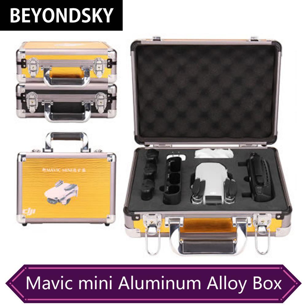 Dji mavic mini acessórios caixa de armazenamento alta qualidade liga alumínio mala portátil aeronaves aéreas à prova dhardágua caso hardshell
